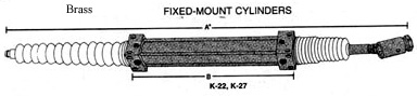 hynautic k-22- k27 brass cylinders