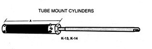 hynautic tube mount cylinder