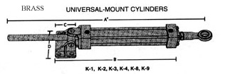 hynautic brass cylinders